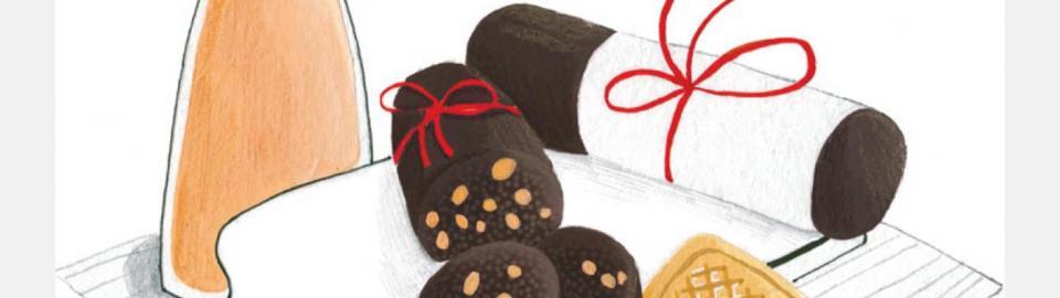 Шоколадная колбаска: рецепт приготовления блюда