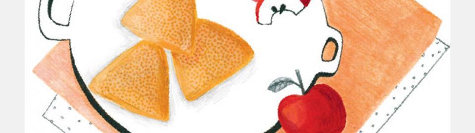 Слоеные треугольники с яблоками: рецепт приготовления блюда