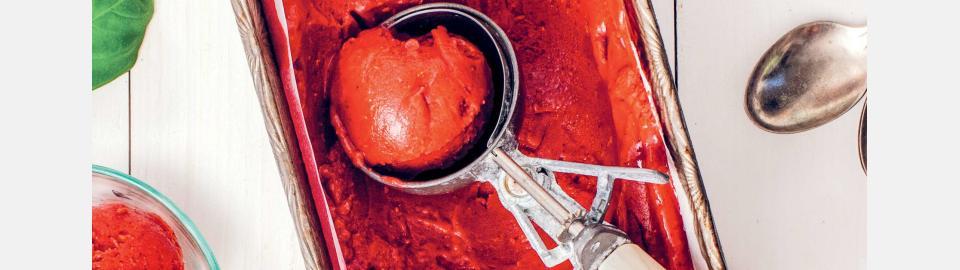 Малиновый сорбет с базиликом: рецепт приготовления