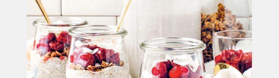 Парфе с вишней и чиа: рецепт приготовления
