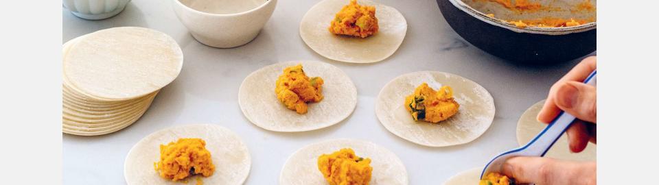 Пельмени гедза с морковью и имбирем: рецепт приготовления