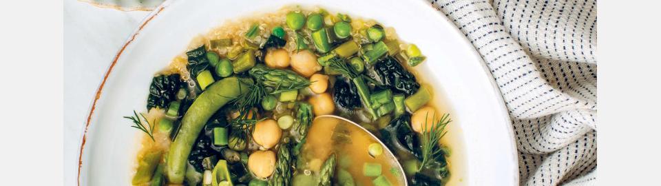 Весенний зеленый суп с лимоном и мисо: рецепт приготовления