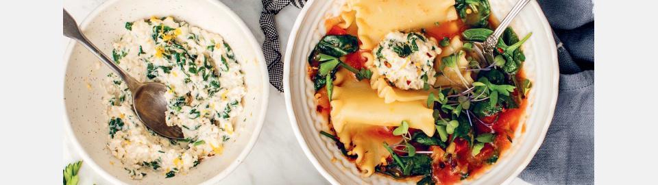 Суп-лазанья с веганской рикоттой: рецепт приготовления