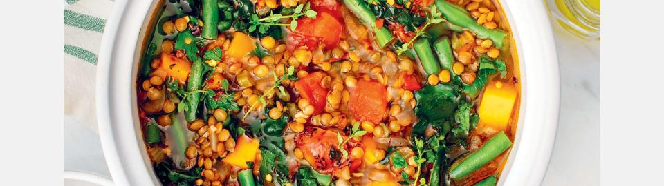 Овощной суп с чечевицей: рецепт приготовления