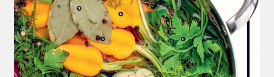 Овощной бульон и бульон из остатков: рецепт приготовления
