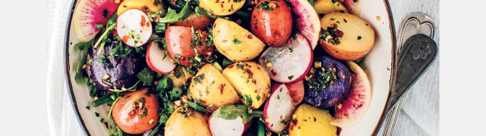 Картофельный салат с чимичурри: рецепт приготовления