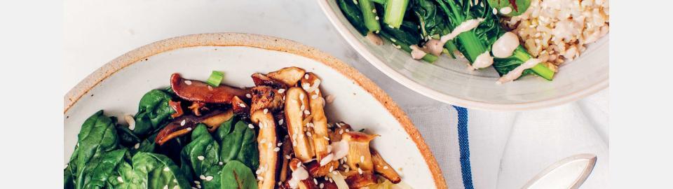 Будда-боул с шиитаке и бок-чой: рецепт приготовления