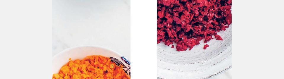 Как сделать «рис» из овощей: капусты, моркови и свеклы
