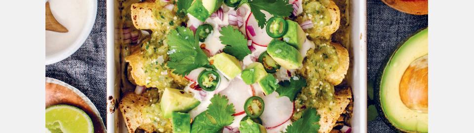 Веганские энчиладас верде с цукини: рецепт приготовления