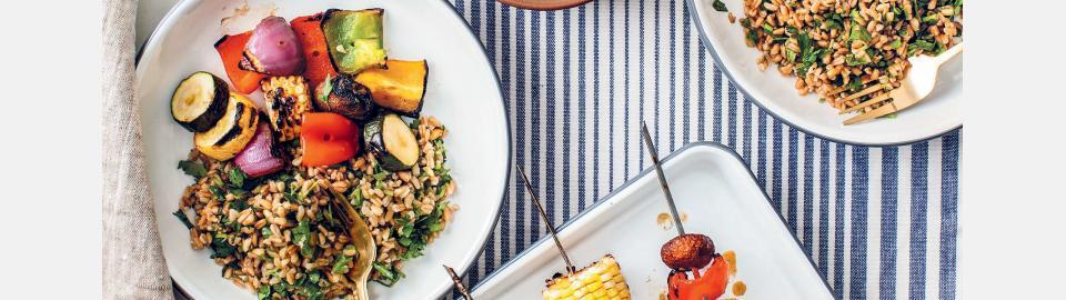 Разноцветные овощные шашлычки: рецепт приготовления