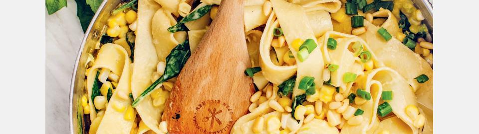 Папарделле со сливочной кукурузой: рецепт приготовления