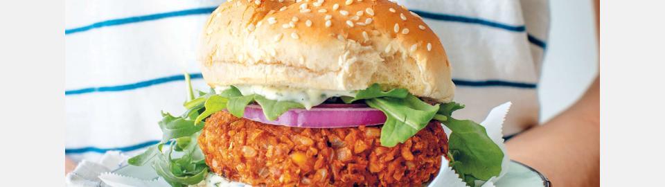 Вегги-бургеры с нутом и хариссой: рецепт приготовления