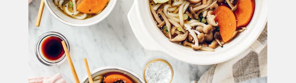 Японский хот-пот с лапшой удон для двоих: рецепт приготовления