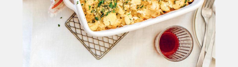 Веганский гратен из цветной капусты: рецепт приготовления