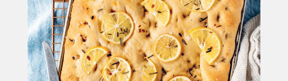 Фокачча с розмарином и лимоном: рецепт приготовления