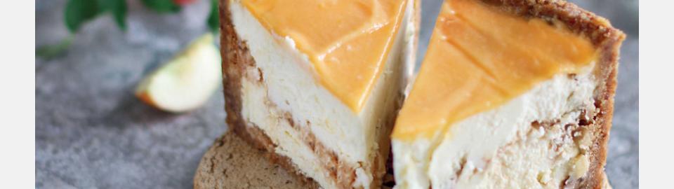 Яблочный карамельный чизкейк: рецепт приготовления